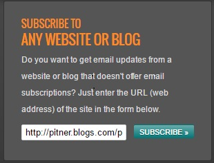 Blog subscribe link